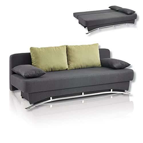 roller roller funktionssofa yu anthrazit gute qualit t gro e liegefl che gr n m bel24. Black Bedroom Furniture Sets. Home Design Ideas