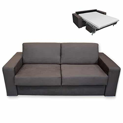 roller schlafsofa braun mit matratze dauerschl fer. Black Bedroom Furniture Sets. Home Design Ideas