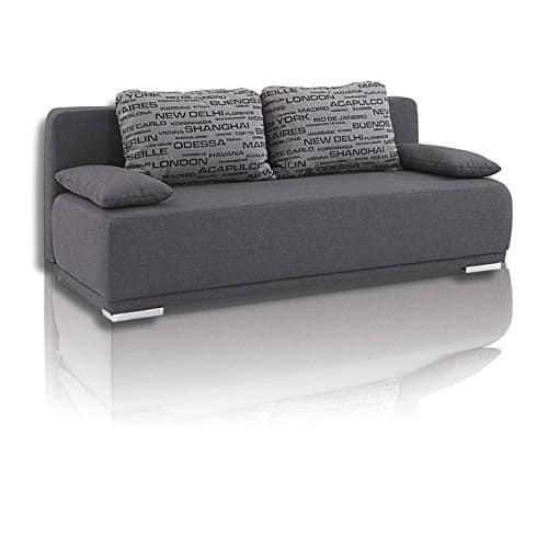 roller schlafsofa grau mit staukasten m bel24. Black Bedroom Furniture Sets. Home Design Ideas