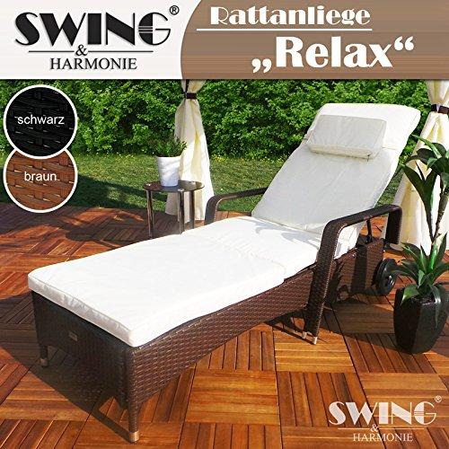 rattan garten liege relax polyrattan gartenliege rattanm bel liegestuhl sonnenliege m bel24. Black Bedroom Furniture Sets. Home Design Ideas