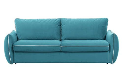 Inside Sofa Linus azur Convertible Öffnung Rapido Schlafsack 160* 195* 13cm Lattenrost LATTEN renatonisi
