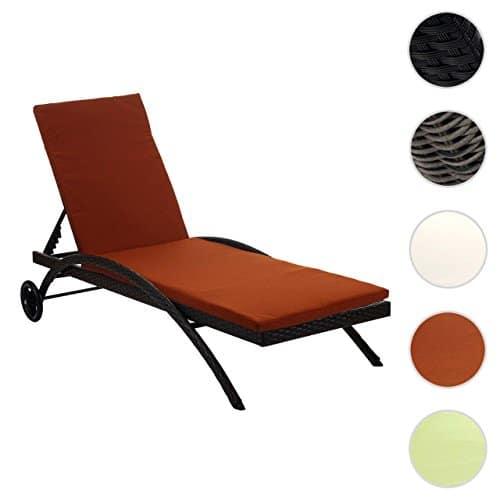 Mendler Sonnenliege Kastoria, Relaxliege Gartenliege, Poly-Rattan