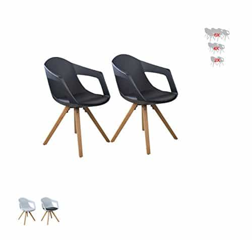 i flair set esszimmerstuhl sessel k chenstuhl mit armlehne aus holz mit sitzschale. Black Bedroom Furniture Sets. Home Design Ideas