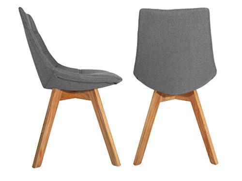 2 st ck st hle trends aus stoff untergestell aus holz eiche massiv beti sprache m bel24. Black Bedroom Furniture Sets. Home Design Ideas