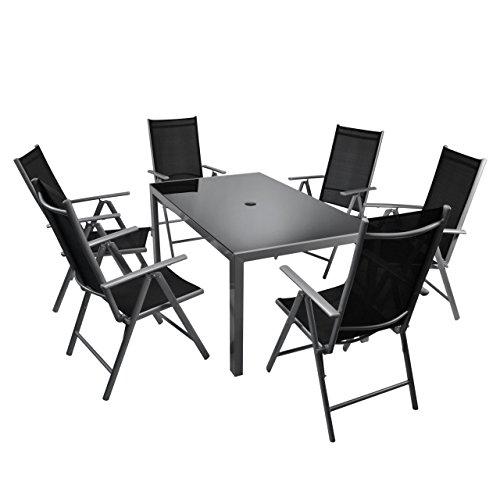 nexos 7 teiliges gartenm bel set gartengarnitur sitzgruppe sitzgarnitur aus gartenst hlen. Black Bedroom Furniture Sets. Home Design Ideas