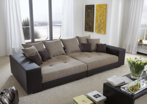 big sofa exclusiv made in germany freie farbwahl aus unserem kunstleder sortiment die stylische. Black Bedroom Furniture Sets. Home Design Ideas