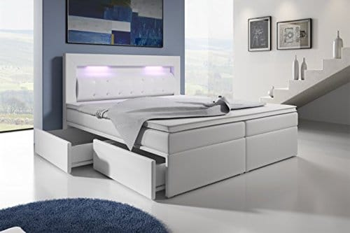 boxspringbett mit bettkasten led kopflicht glasstein hotelbett neapel m bel24. Black Bedroom Furniture Sets. Home Design Ideas