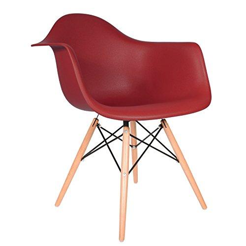 Daw stuhl bordeaux natur 0 m bel24 for Daw stuhl gepolstert