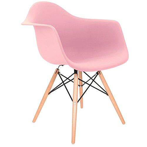 Daw stuhl rosa natur m bel24 for Design stuhl daw
