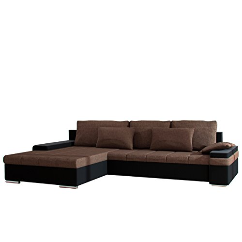 design ecksofa bangkok dot moderne eckcouch mit schlaffunktion und bettkasten ecksofa f r. Black Bedroom Furniture Sets. Home Design Ideas