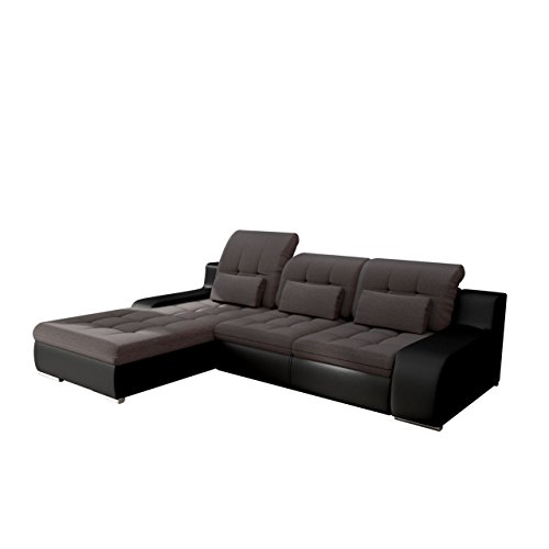 ecksofa bravero eckcouch mit bettkasten und schlaffunktion moderne schlafsofa polsterecke. Black Bedroom Furniture Sets. Home Design Ideas