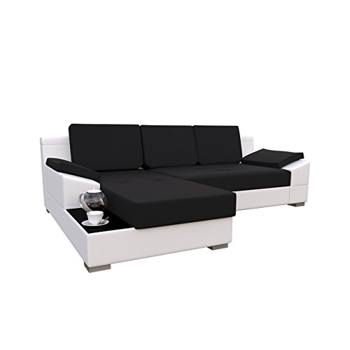 mirjan24 ecksofa nemo eckcouch couch mit bettkasten und schlaffunktion glasplatte r cken mit. Black Bedroom Furniture Sets. Home Design Ideas