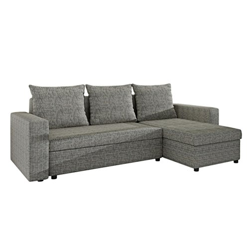 ecksofa top lux sofa eckcouch couch mit schlaffunktion und zwei bettkasten ottomane universal. Black Bedroom Furniture Sets. Home Design Ideas