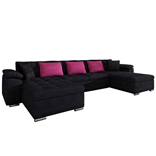 Ecksofa wicenza design big sofa eckcouch couch mit for U form wohnlandschaft mit bettfunktion