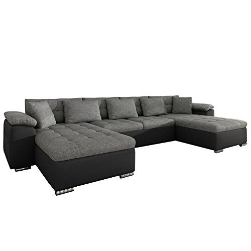 Ecksofa wicenza loft design big sofa eckcouch couch mit for U form wohnlandschaft mit bettfunktion