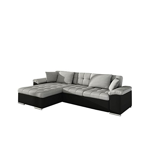 mirjan24 gro es design ecksofa diana eckcouch mit bettkasten und schlaffunktion elegante couch. Black Bedroom Furniture Sets. Home Design Ideas