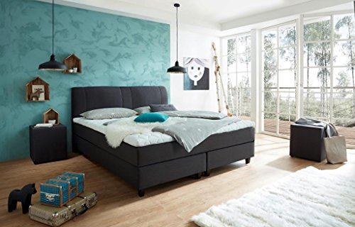 boxspringbett rockstar welcon 160x200 22 farben weich mittel medium. Black Bedroom Furniture Sets. Home Design Ideas