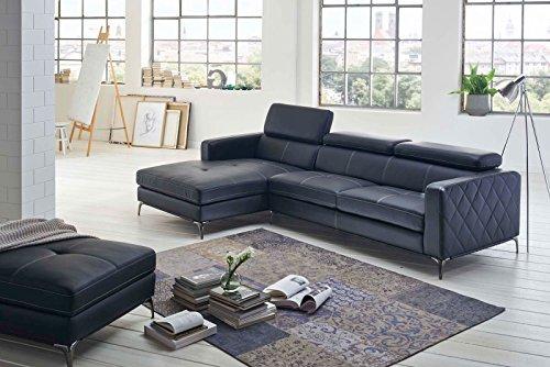 sam design schlafsofa dario in anthrazit links mit hocker m bel24. Black Bedroom Furniture Sets. Home Design Ideas