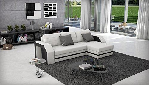 sam ecksofa acapulco wei schwarzes ecksofa 266 x 145 cm. Black Bedroom Furniture Sets. Home Design Ideas