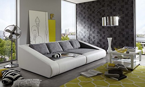 sam schlafsofa siena grau wei sofa 260 cm inklusive. Black Bedroom Furniture Sets. Home Design Ideas