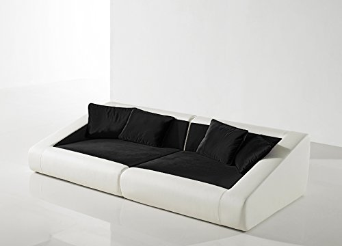 sam schlafsofa siena schwarz wei sofa 260 cm inklusive kissen m bel24. Black Bedroom Furniture Sets. Home Design Ideas