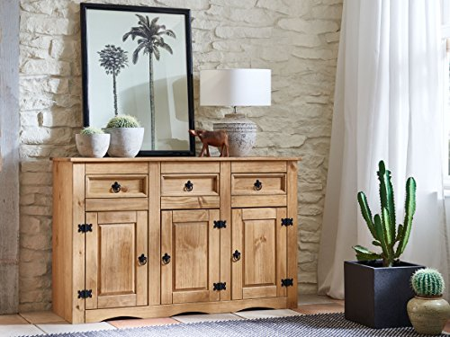 sam sideboard aus kiefernholz mexico m bel kommode mit je 3 schubf chern stauf cher. Black Bedroom Furniture Sets. Home Design Ideas