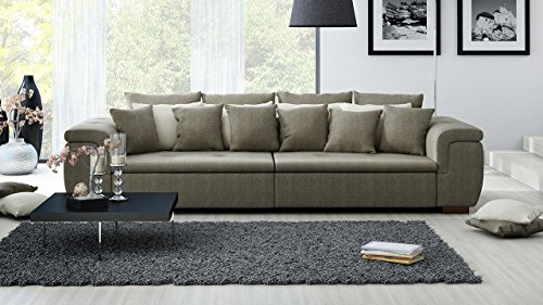xxl sofa big sofa mega sofa ultrasofa couch kuschelsofa webstoff braun grau beige. Black Bedroom Furniture Sets. Home Design Ideas