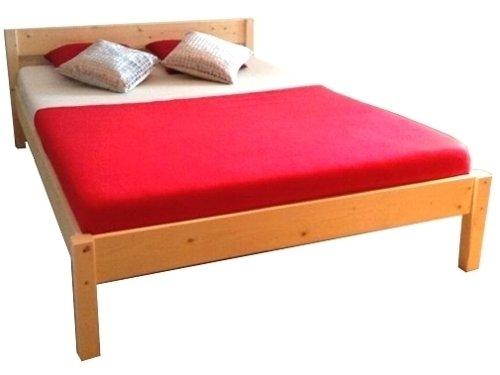 Futonbett mit Kopfteil Holz Bett massiv Holzbett 90 100 120 140 160 180 200 x 200cm, Hergestellt in BRD (200x200cm)