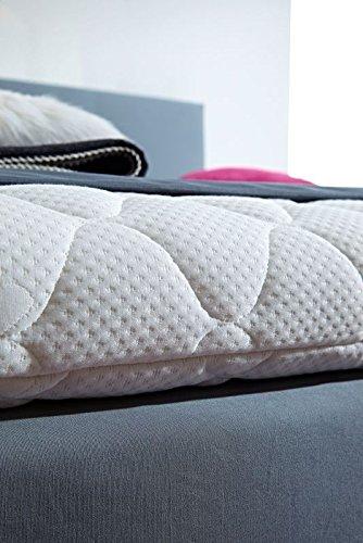 Luxus Boxspringbett ROCKSTAR 9cm Topper WELCON 140x200 **64 Farben** erhältlich in H1, H2, H3, H4, H5 (rechts und links beliebig kombinierbar) - reduziert direkt vom Hersteller ohne Zwischenhandel Schlaraffia