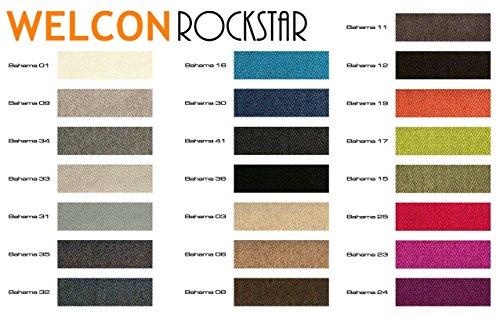 Luxus Boxspringbett von WELCON 140x200 **22 Farben** erhältlich in H2, H3, H4, H2/H3 und H3/H4 - reduziert direkt vom Importeur ohne Zwischenhandel (lieferbar in grau, hellgrau, dunkelgrau, braun, beige, blau, rot, gelb, u.v.m.)