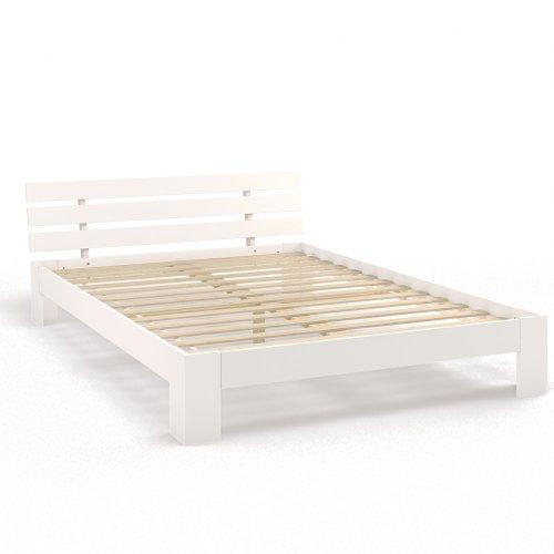Holzbett Doppelbett Holz 140x200 160x200 180x200 cm Massivholz Bett Bettgestell inkl. Lattenrost Weiß oder Natur (140x200, Weiß)