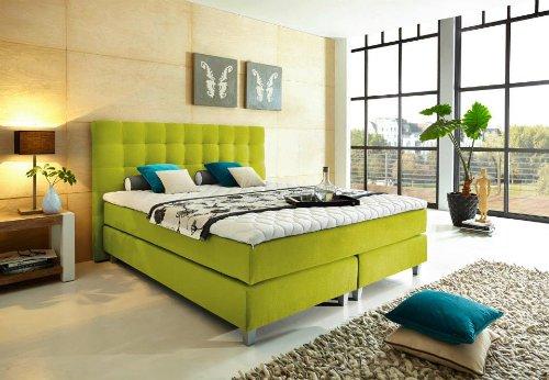 """Modell """"Rockstar"""" von WELCON: Luxus Boxspringbett 180x200 Härtegrad H3 in gelb (lemon) inkl. Topper - Premiumklasse für 5 Sterne Hotels - günstig direkt vom Importeur"""