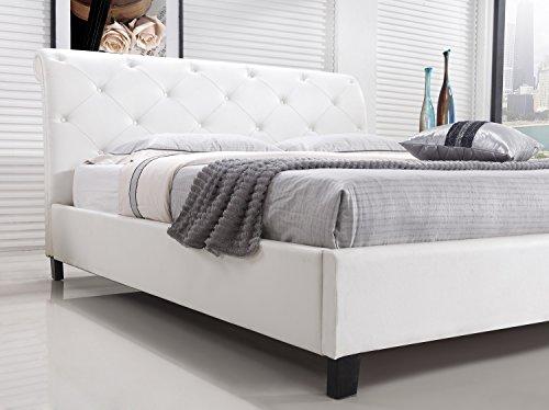 Designer Bett BAROCK MODERN #78 Doppelbett (ALLE GRÖßEN) (180x200 cm, Weiß)