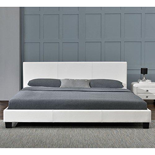 polsterbett barcelona 140 x 200 cm wei mit. Black Bedroom Furniture Sets. Home Design Ideas