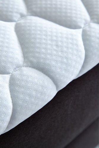 Luxus Boxspringbett von WELCON 180x200 **22 Farben** erhältlich in H1, H2, H3, H4, H5 (rechts und links beliebig kombinierbar) - reduziert direkt vom Importeur ohne Zwischenhandel (lieferbar in grau, hellgrau, dunkelgrau, braun, beige, blau, rot, gelb, u.v.m.)