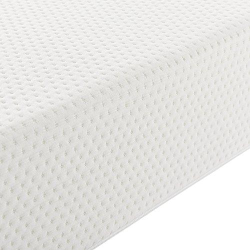 """Polsterbett """"Paris"""" - 160 x 200 cm - weiß mit Lattenrost & Kaltschaummatratze"""