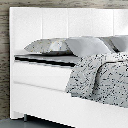 Boxspringbett 160x200 Hotelbett Doppelbett Polsterbett Ehebett amerikanisches Bett Modell Madrid Typ 1 (160x200)