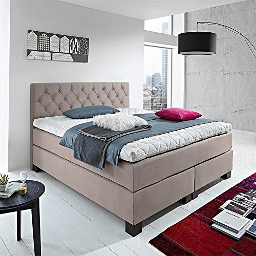 luxus boxspringbett rockstar capiton 9cm topper welcon 160x200 64 farben erh ltlich h1 h2 h3 h4. Black Bedroom Furniture Sets. Home Design Ideas