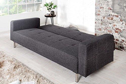 Invicta Interior 35845 Design Schlafsofa Manhattan 215 cm, anthrazit