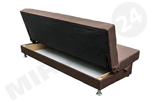 Modernes Sofa Endo mit Bettkasten und Schlaffunktion, Funktionssofa, Lounge Couch, Design Bettsofa Schlafcouch Schlafsofa (Lux 14)