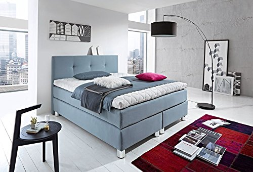 luxus boxspringbett rockstar 9cm topper welcon 160x200 64 farben erh ltlich h1 h2 h3 h4 h5. Black Bedroom Furniture Sets. Home Design Ideas