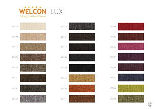 Luxus Boxspringbett ROCKSTAR CAPITON 9cm Topper WELCON 160x200 64 Farben erhältlich H1 H2 H3 H4 H5 (rechts und links beliebig kombinierbar) reduziert direkt vom Hersteller ohne Zwischenhandel Schlaraffia