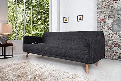Invicta Interior 35843 Design Schlafsofa Scandinavia 210 cm, anthrazit