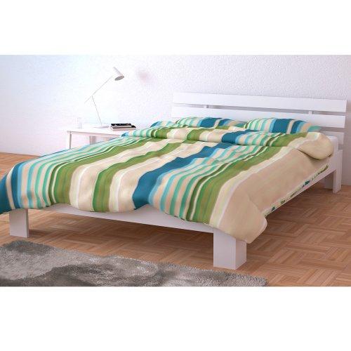 holzbett doppelbett holz 140x200 160x200 180x200 cm massivholz bett bettgestell inkl lattenrost. Black Bedroom Furniture Sets. Home Design Ideas