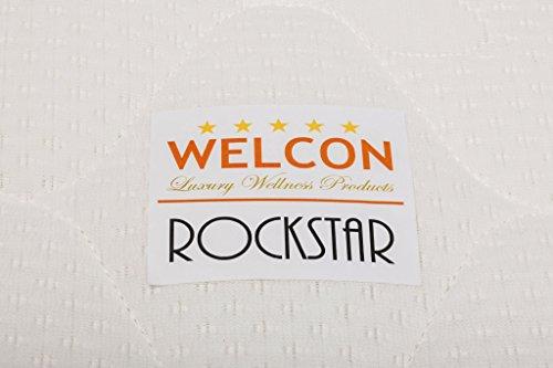 ORIGINAL ROCKSTAR LE (Limited Edition) von WELCON mit Taschenfederkern: Luxus Boxspringbett 180x200 Härtegrad H3 in hellgrau TTF in Matratze und Boxen, inkl. Topper