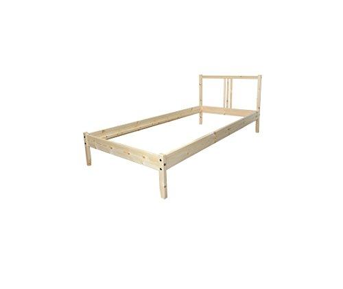 """IKEA Bettgestell """"Fjellse"""" Holz-Bett in 90x200 cm aus massiver, unbehandelter Kiefer"""