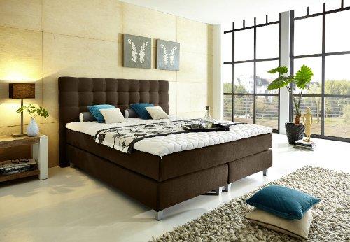 """Modell """"Rockstar"""" von WELCON: Luxus Boxspringbett 180x200 Härtegrad H3 in braun / dunkelbraun inkl. Topper - Premiumklasse für 5 Sterne Hotels - günstig direkt vom Importeur"""