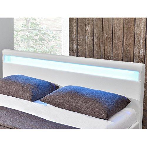 polsterbett paris 160 x 200 cm wei mit lattenrost. Black Bedroom Furniture Sets. Home Design Ideas