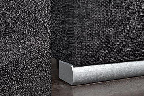 Design Schlafsofa BARCLAYS anthrazit 200cm Bettkasten Gästebett Funktion Sofa Couch
