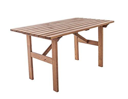 Ambientehome Gartentisch Tisch Massivholz Esstisch HANKO